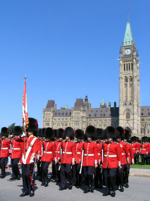 Changing of the Guard Ceremony Parliament Buildings Ottawa