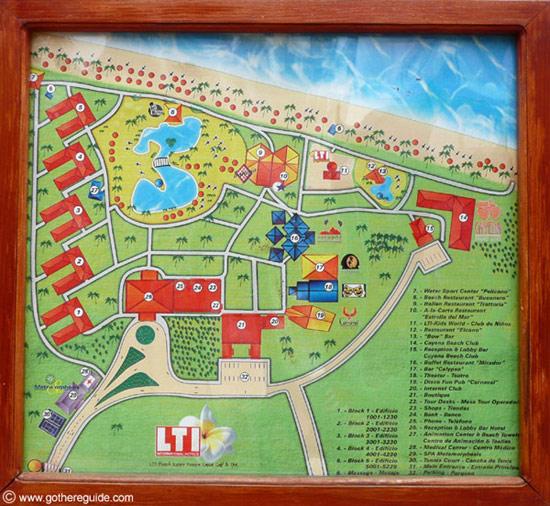 VIK Hotel Arena Blanca - LTI Beach Resort Punta Cana Map