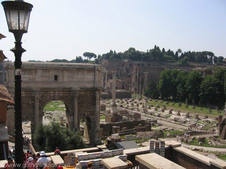 Arch of Septimius-Severus and Basilica Julia