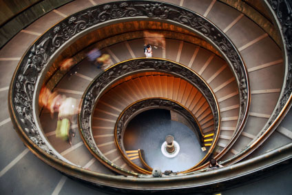 Spiral staircase Vatican Museum