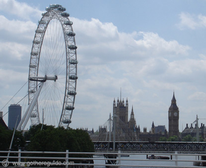 London Eye and Parliament